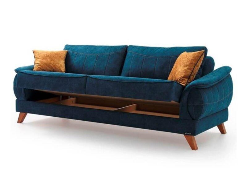 Υφασμάτινος Καναπές – Κρεβάτι Τριών Θέσεων Ef-105068