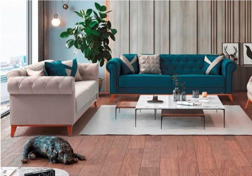 """Κομψός Κλασικός Καναπές-Κρεβάτι """"Ίκαρος"""" Ef-105075"""