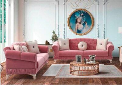 """Τριθέσιος Καναπές Κρεβάτι Νεοκλασικός """"Elizabeth"""" Ef-100106"""
