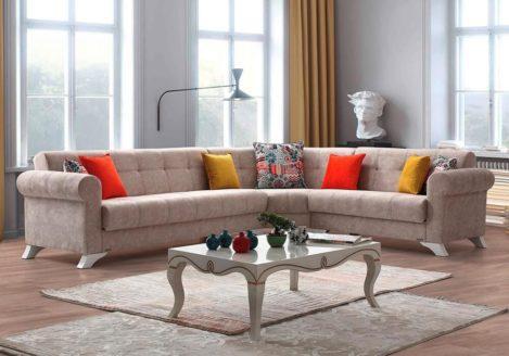 Μεγάλος γωνιακός καναπές καβουράκι