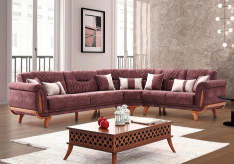 Καπιτονέ γωνιακός καναπές κρεβάτι