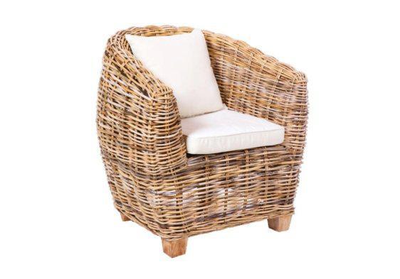 αναπαυτική πολυθρόνα με πλέξη μπαμπού