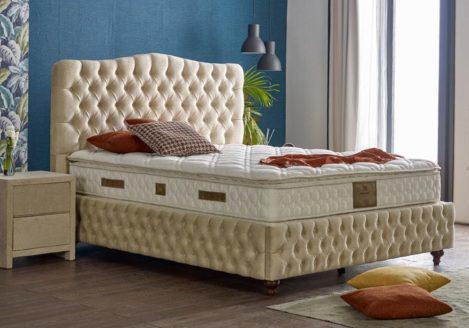 Αριστοκρατικό καπιτονέ κρεβάτι