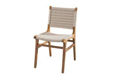 καρέκλα από ξύλο teak με βαμβακερό κορδόνι