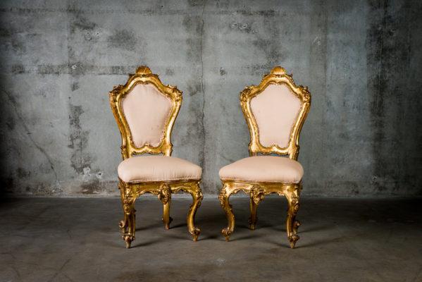Ροκοκό έπιπλα, ροκοκό πολυθρόνες χρυσές