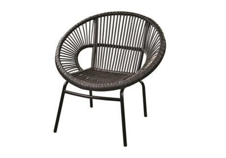 Μαύρη μοντέρνα πολυθρόνα με κυκλικό σχήμα