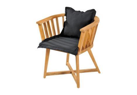 Ξύλινη πολυθρόνα από teak με μαξιλάρια