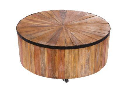 στρογγυλό τραπέζι καφέ κορμός δέντρου