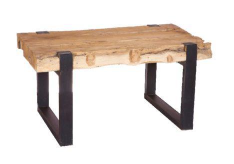 ξύλινο τραπέζι με βάση από σίδερο