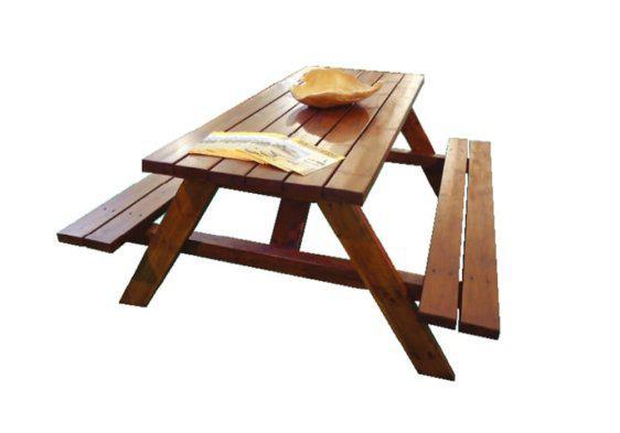 ξύλινο τραπέζι πάγκος για τον κήπο