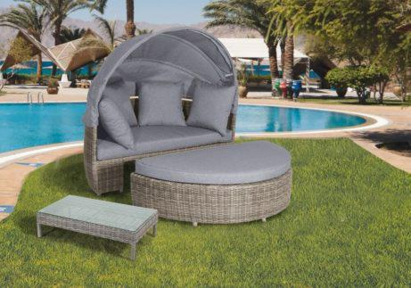 daybed καναπές κήπου από ραττάν σετ