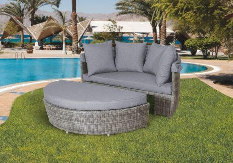 daybed καναπές κήπου από ραττάν