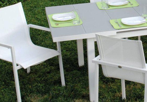 πολυθρόνα κήπου αλουμινίου λεπτομέρεια