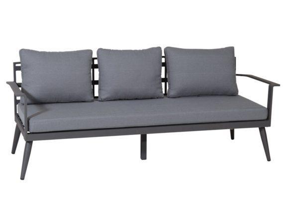 τριθέσιος καναπές κήπου από αλουμίνιο