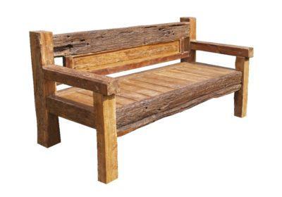 τριθέσιος καναπές παγκάκι από ξύλο teak