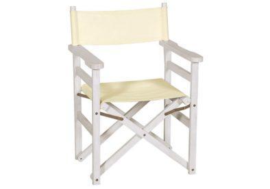 αναπαυτική ξύλινη πολυθρόνα σκηνοθέτη