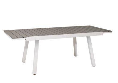 επεκτεινόμενο τραπέζι polywood με σκελετό αλουμινίου
