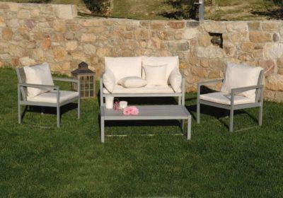 καθιστικό σετ polywood με αλουμίνιο σκελετό