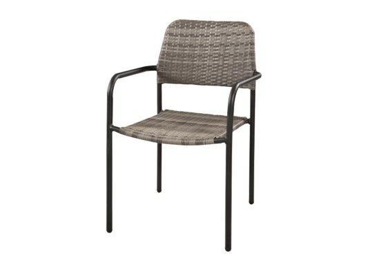 μεταλλική πολυθρόνα από συνθετικό ραττάν