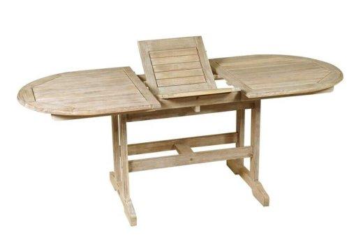 οβάλ ξύλινο επεκτεινόμενο τραπέζι