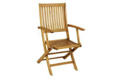 πολυθρόνα χαμηλής πλάτης από ξύλο ακακίας