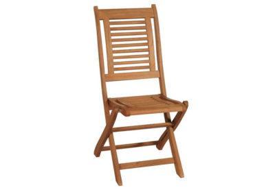 πτυσσόμενη καρέκλα με χαμηλή πλάτη από ξύλο balau