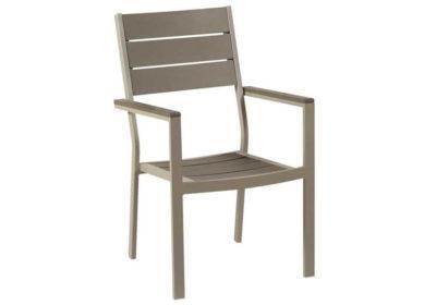 στοιβαζόμενη πολυθρόνα polywood με αλουμίνιο σκελετό