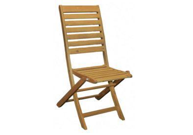 ξύλινη αναδιπλώμενη καρέκλα χαμηλής πλάτης