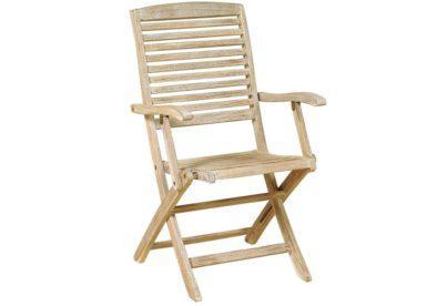 ξύλινη χαμηλόπλατη πτυσσόμενη πολυθρόνα