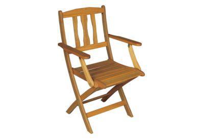 ξύλινη πολυθρόνα κήπου χαμηλής πλάτης