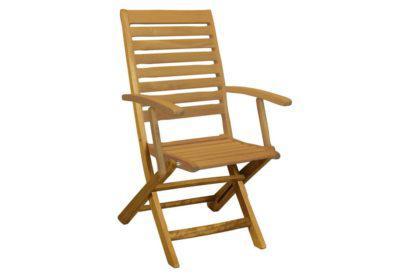 ξύλινη πτυσσόμενη πολυθρόνα χαμηλής πλάτης χωρίς θέσεις