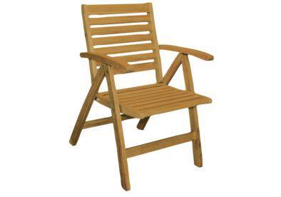 ξύλινη πτυσσόμενη πολυθρόνα χαμηλής πλάτης πέντε θέσεων