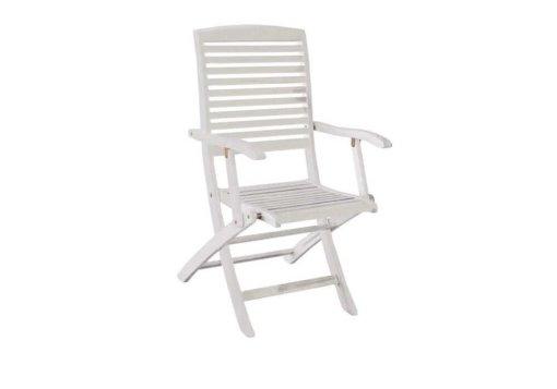 ξύλινη πτυσσόμενη πολυθρόνα με χαμηλή πλάτη