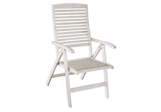 ξύλινη πτυσσόμενη πολυθρόνα με ψηλή πλάτη