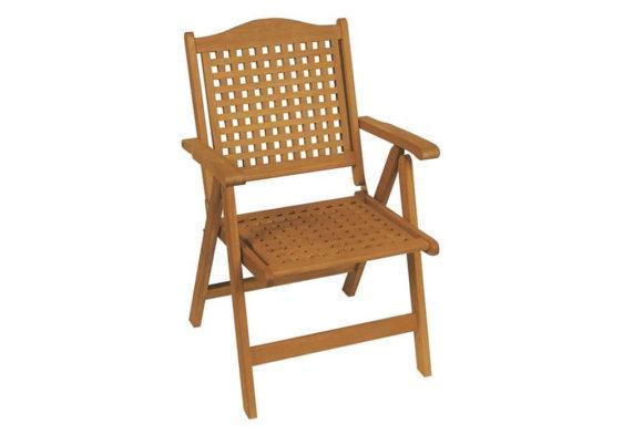 ξύλινη πτυσσόμενη πολυθρόνα πέντε θέσεων