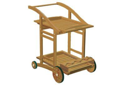 ξύλινο καροτσάκι σερβιρίσματος από ακακία