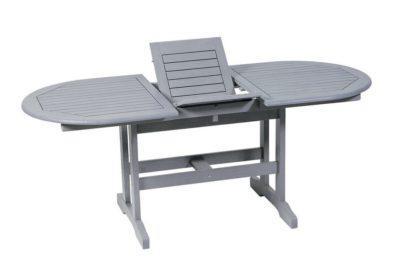 ξύλινο οβάλ επεκτεινόμενο τραπέζι
