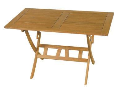 ξύλινο παραλληλόγραμμο αναδιπλώμενο τραπέζι