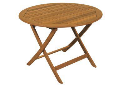 ξύλινο στρογγυλό πτυσσόμενο τραπέζι από balau