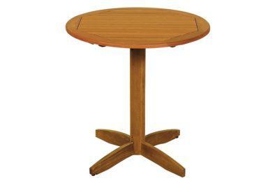 ξύλινο στρογγυλό σταθερό τραπέζι balau