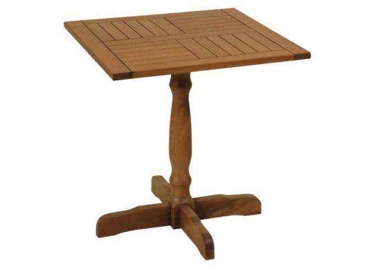 ξύλινο τετράγωνο σταθερό τραπέζι οξυάς