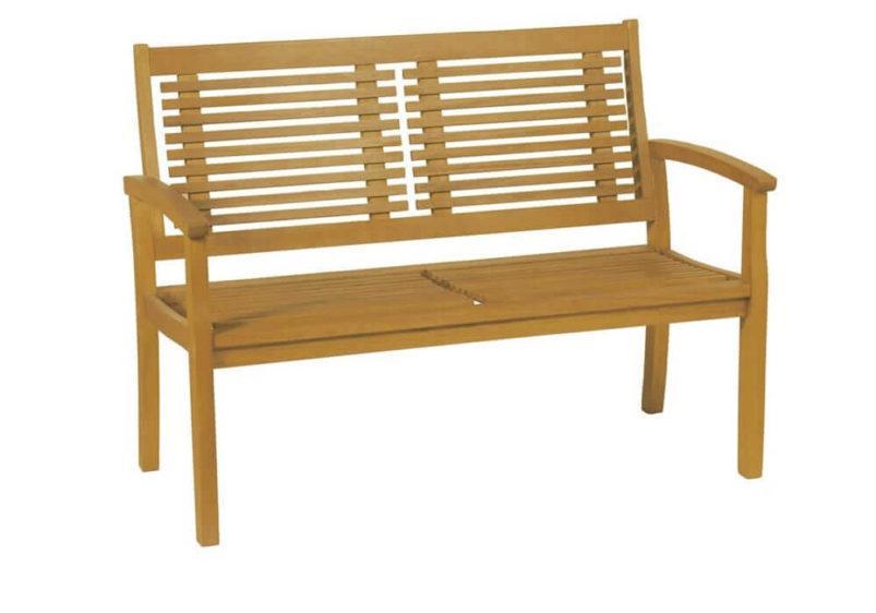 ξύλινος καναπές δύο θέσεων από ακακία