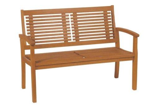 ξύλινος καναπές δύο θέσεων από δέντρο balau