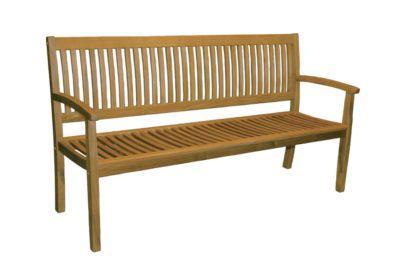 ξύλινος καναπές δύο θέσεων εξωτερικού χώρου