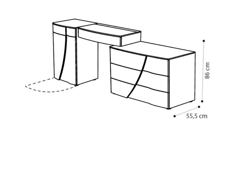 διαστάσεις σύνθεσης μπουντουάρ