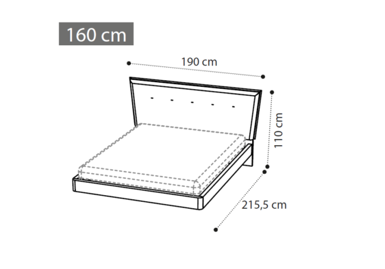 διαστασεις 160 κρεβατιου