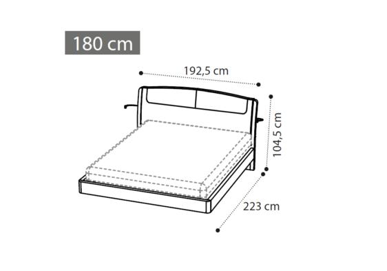 μοντέρνο κρεβάτι διαστάσεις 180