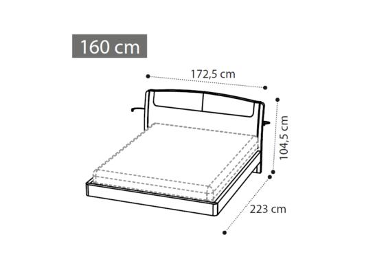 μοντέρνο κρεβάτι διαστάσεις