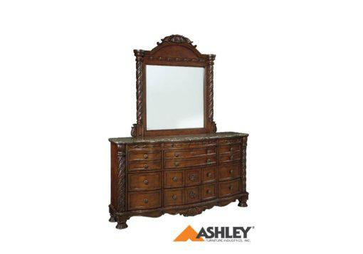 Σκαλιστή μεγάλη τουαλέτα με καθρέφτη North Shore by Ashley