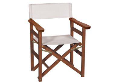 αναδιπλώμενη πολυθρόνα σκηνοθέτη από ξύλο ακακίας